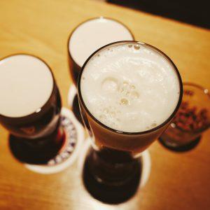 Une bière qui mousse