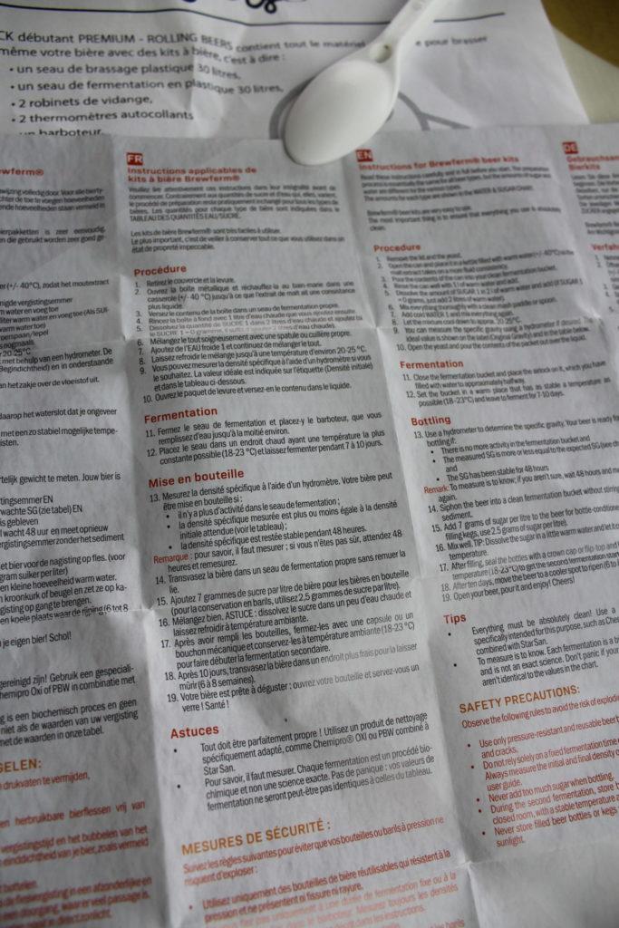 Instructions pour kit brewferm