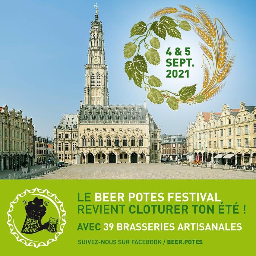 Le Beer Potes Festival à Arras du 4 au 5 septembre 2021