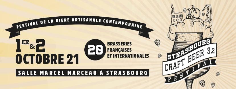 La 3eme édition du Strasbourg Craft Beer Festival aura lieu du 1er au 2 octobre 2021