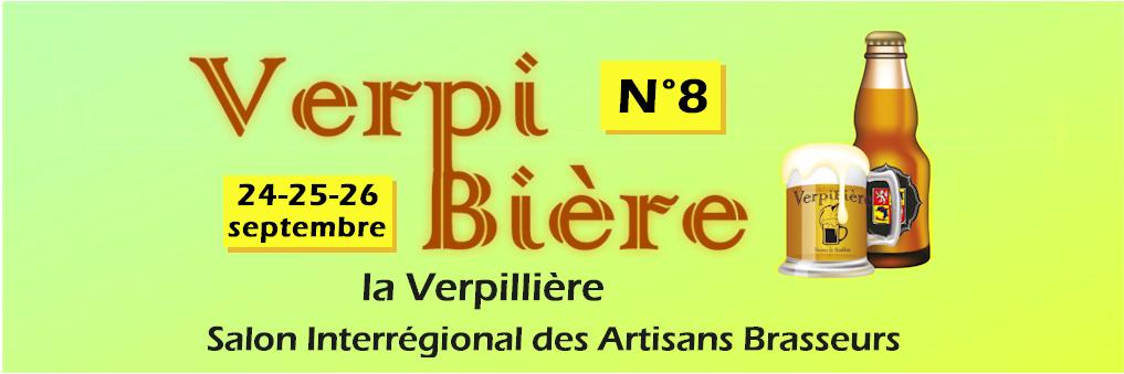 8eme édition du Verpibière, le salon des bières artisanales à la Verpillière du 24 au 26 septembre 2021