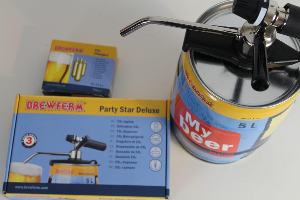 Mini-fût 5 litres de Brewferm Party Star deluxe
